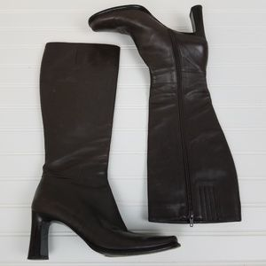 Via Spiga Leather Brown Tall Knee High Boots 8